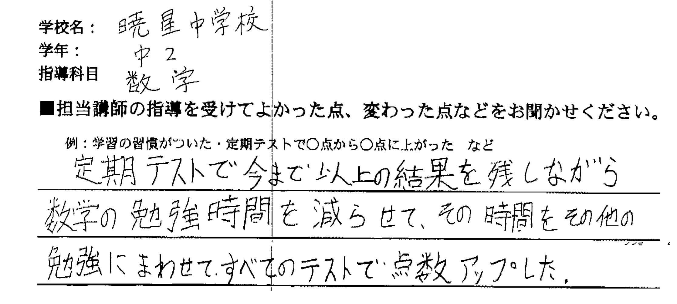 暁星中学校 2年 S・Sさん